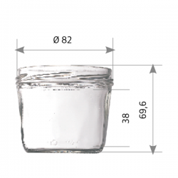 Verrine 240 ml to 82, Pot...